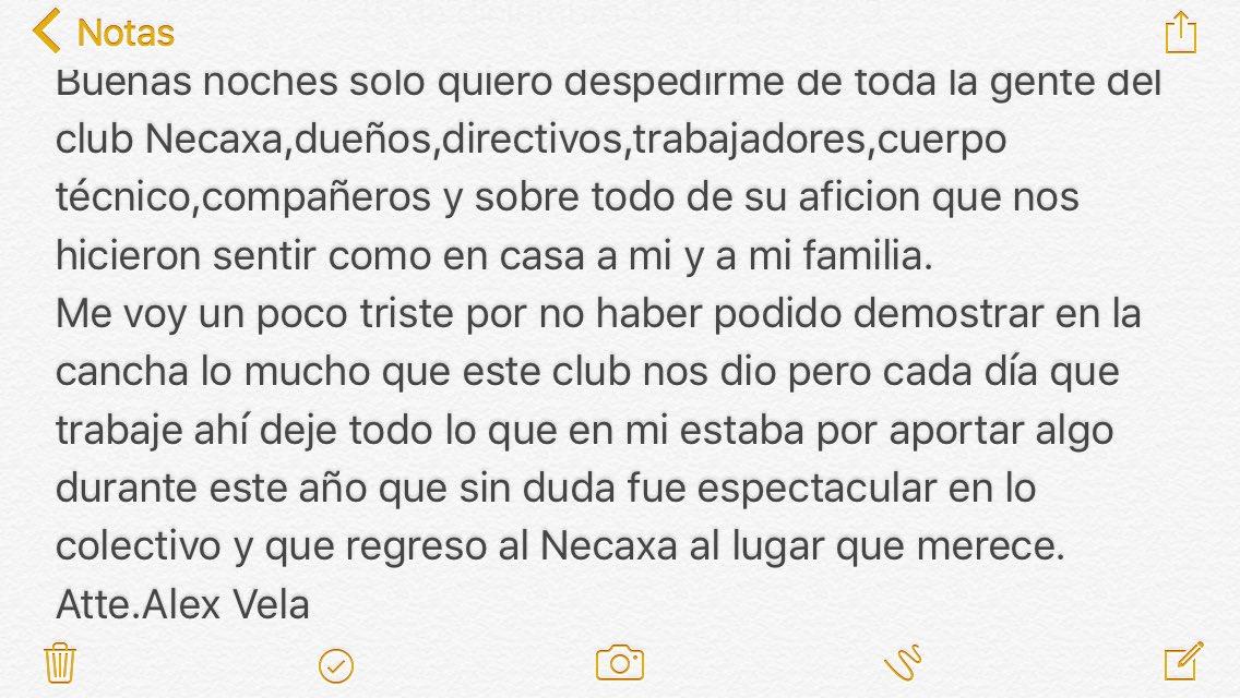 @ClubNecaxa y a toda su gente. Gracias!!!!!