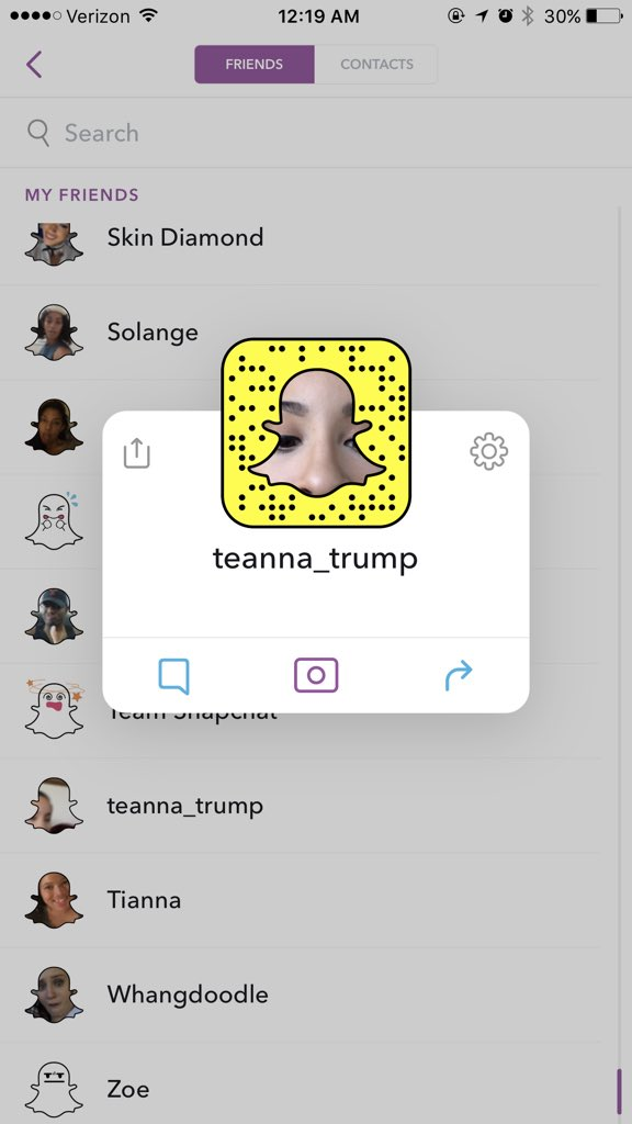 teanna trump snapchat