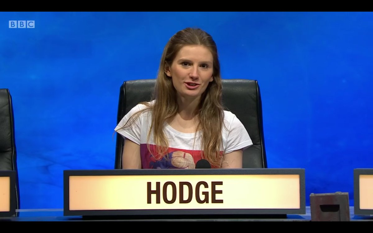Hold up. Is Catherine Hodge from Robinson College repping a @CHVRCHES tee on University Challenge?? https://t.co/0qZlfSWINC