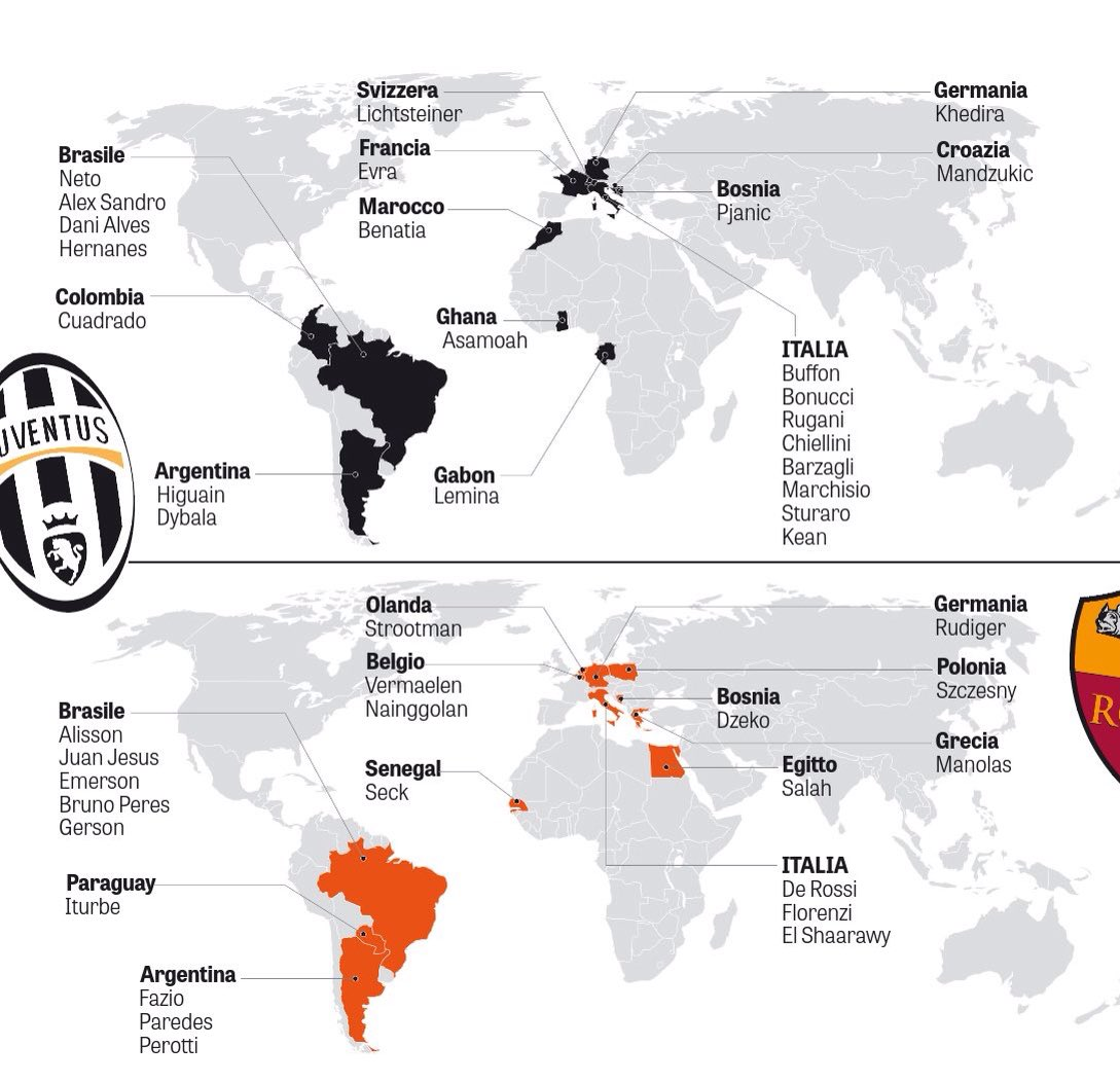 Serie A Th Matchday Juve Roma Dec Th Xtratime Community - Juventus italy map