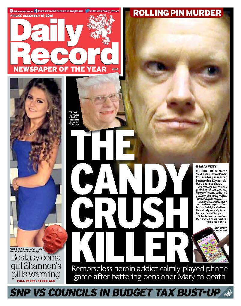 "The Daily Record on Twitter: ""Good morning. Today's Daily ... Daily Record"