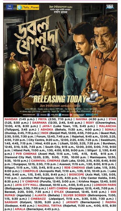 #DoubleFeluda releases today and #ColkatayColumbus sails into its 6th week! Its been a good season 😉 https://t.co/KgfbDyo2LM