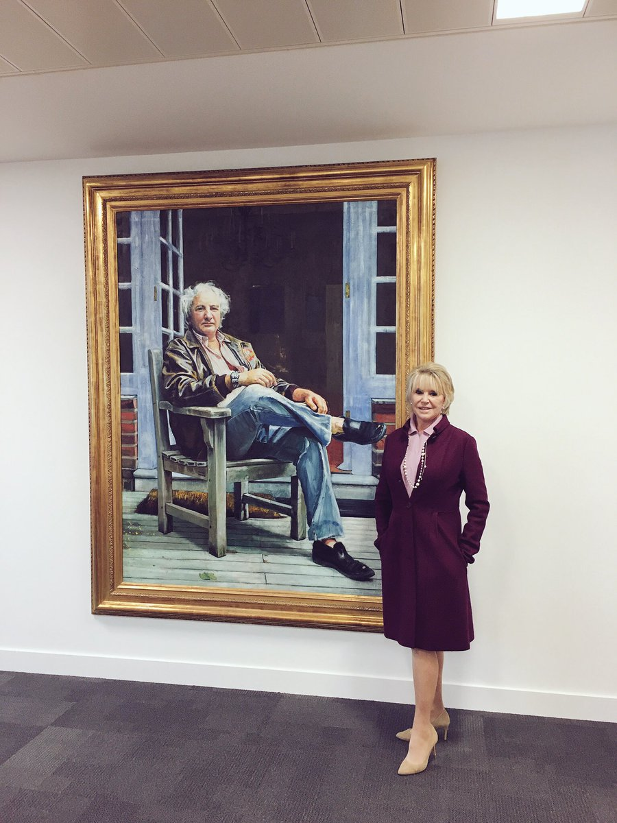 """Hanging Michael winner's portrait in the """"michael Winner conference room at the new training centre Hendon https://t.co/Dy9zhYjiH7"""
