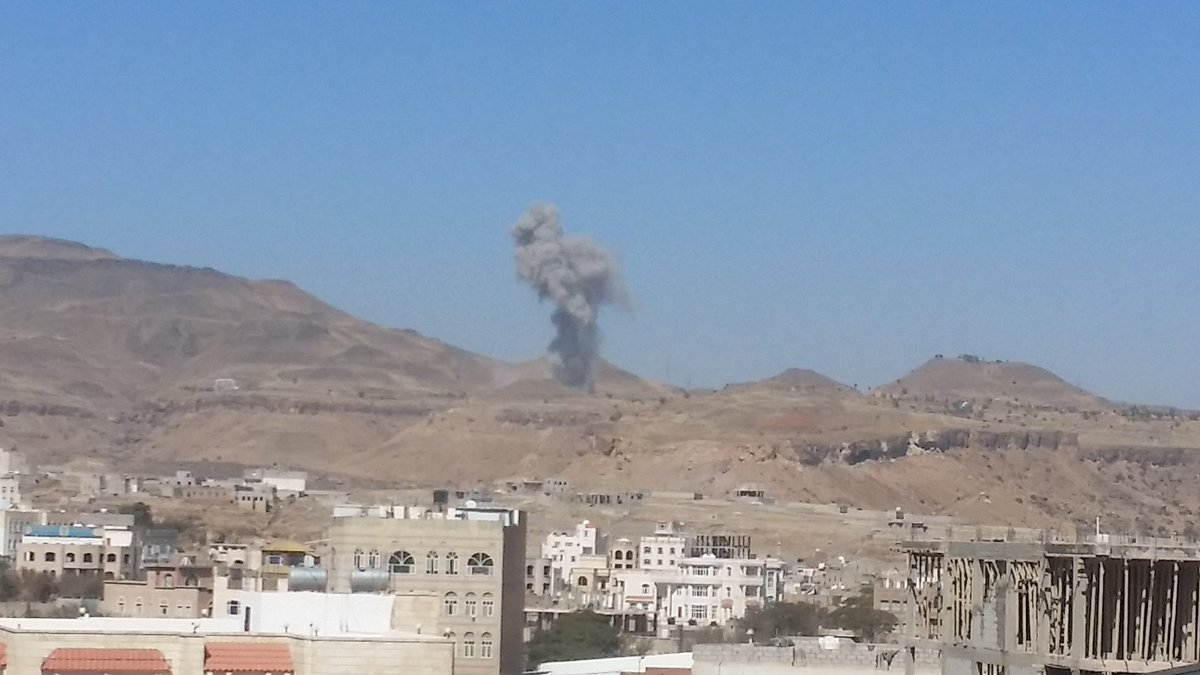 Saudi-led coalition airstrikes pound Yemen capital of Sanaa