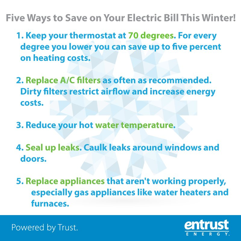 how to save on electric bill in the winter