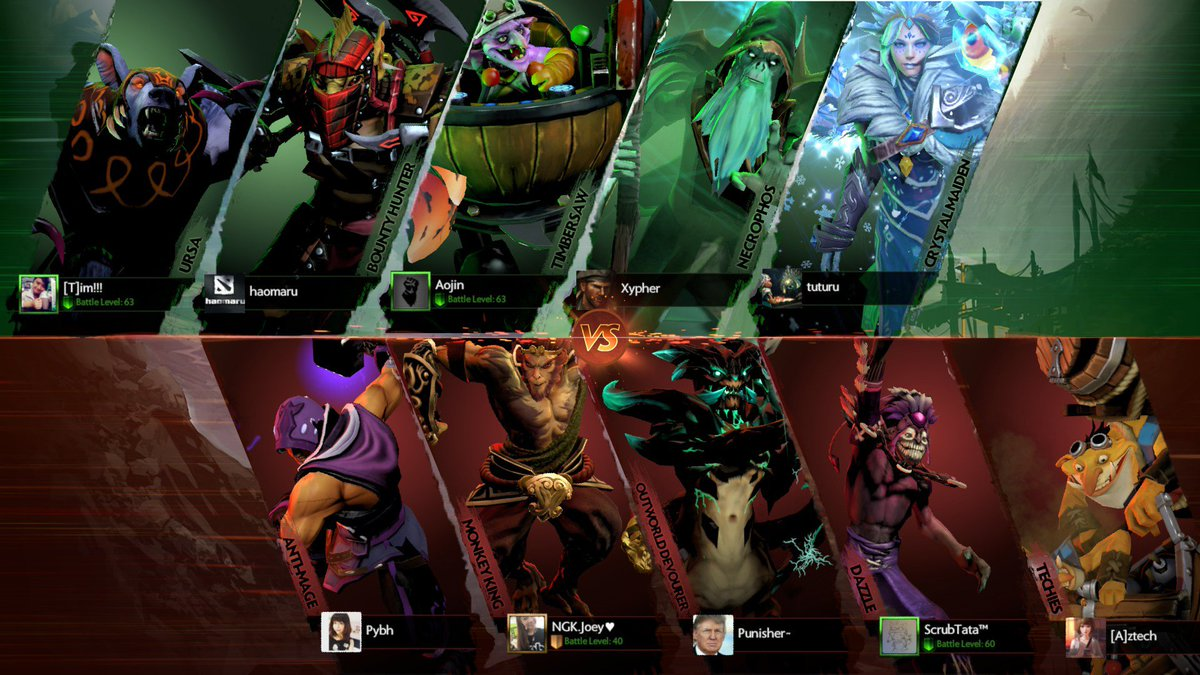 reddit dota 2 on twitter versus screen with artworks and