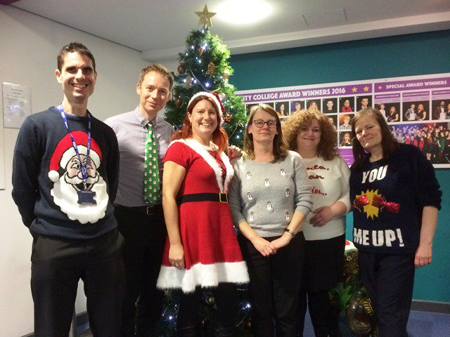 City College On Twitter Nothing Quite Like Christmasjumperday To Get Staff In The Festive Spirit Donations Going To Southampton Charity Nolimitshelp Https T Co Bimraixwma