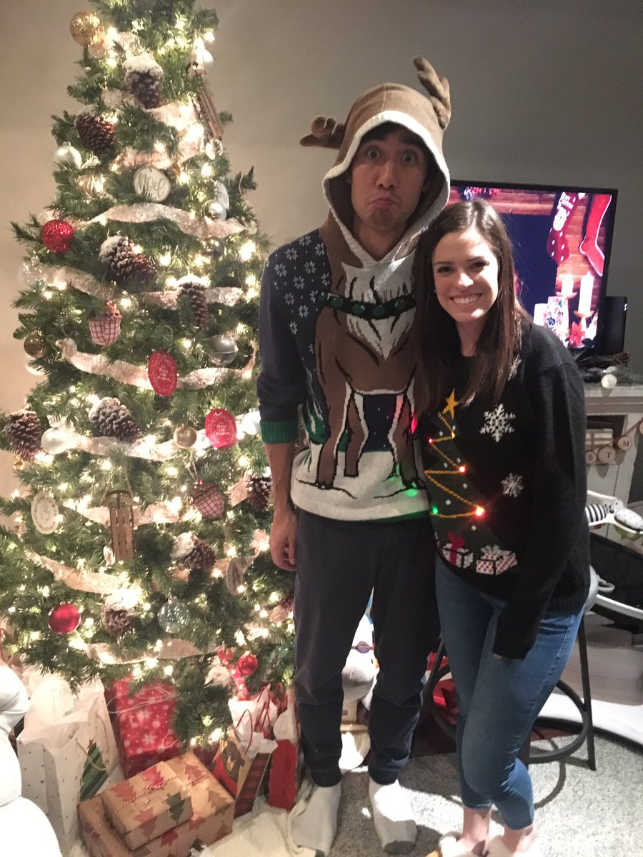 We are prepared for #NationalUglySweaterDay @RachelHolm3 https://t.co/...