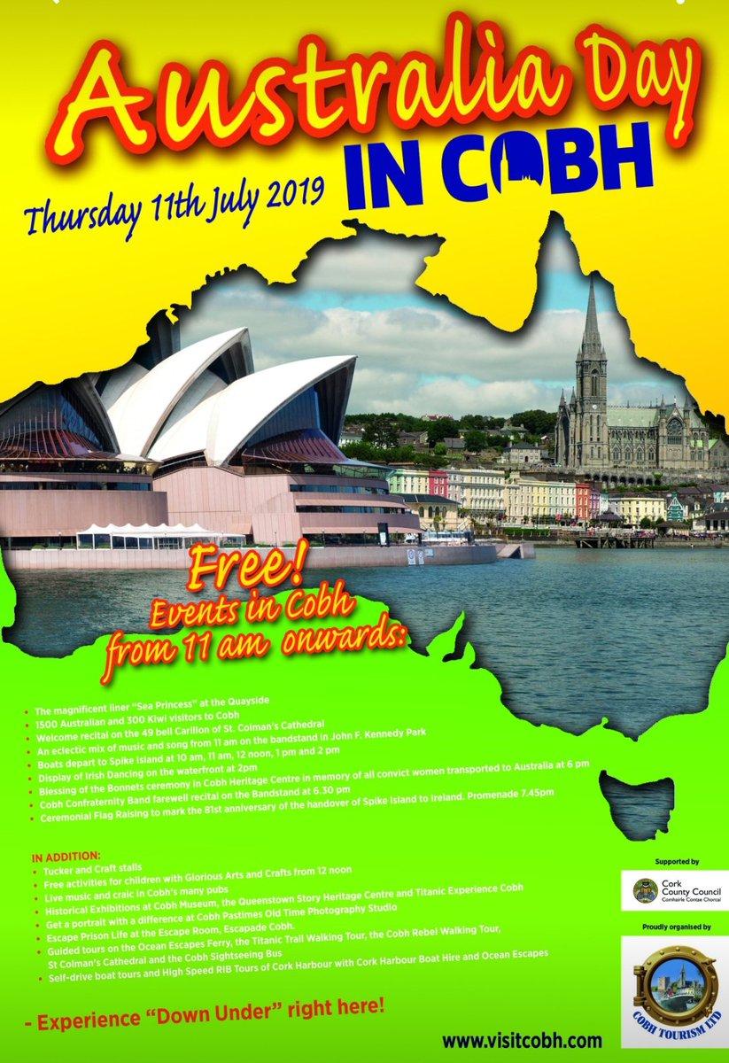 Looking forward to greeting the 2000 passengers off the Sea Princess this week in Cobh....best day of the year.....our very own Australia Day! @PrincessCruises @TonyRoberts101 @RachelPoultney @becik1980 @MattLebbern #seaprincess #worldcruise #cobhport #seaprincessworldcruisepic.twitter.com/LArJjsX7yO