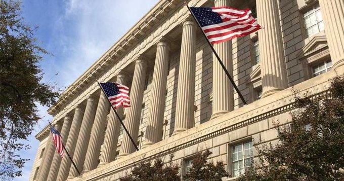U.S. Department of Commerce building.