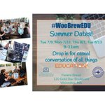 Image for the Tweet beginning: First summer #woobrewedu happening tomorrow
