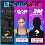 🔔 ALERT! WE'RE GETTING CLOSER TO 1.95 MILLION SUBSCRIBERS ON @YouTube!!! 🔔  Subscribe to #UUDD to UNLOCK the next level of #SuperstarSavepoint with @RondaRousey! #UUDD2MIL