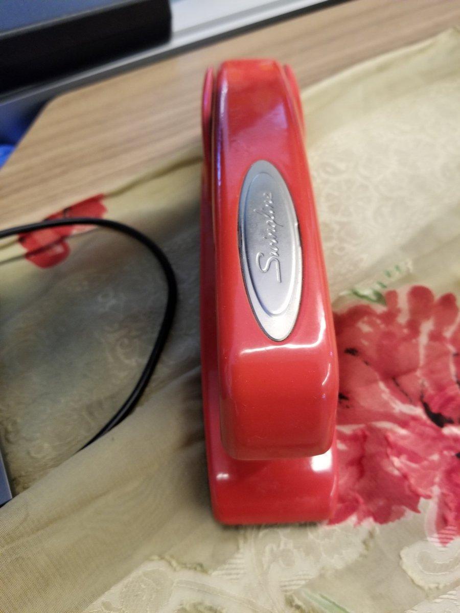 I took his stapler.