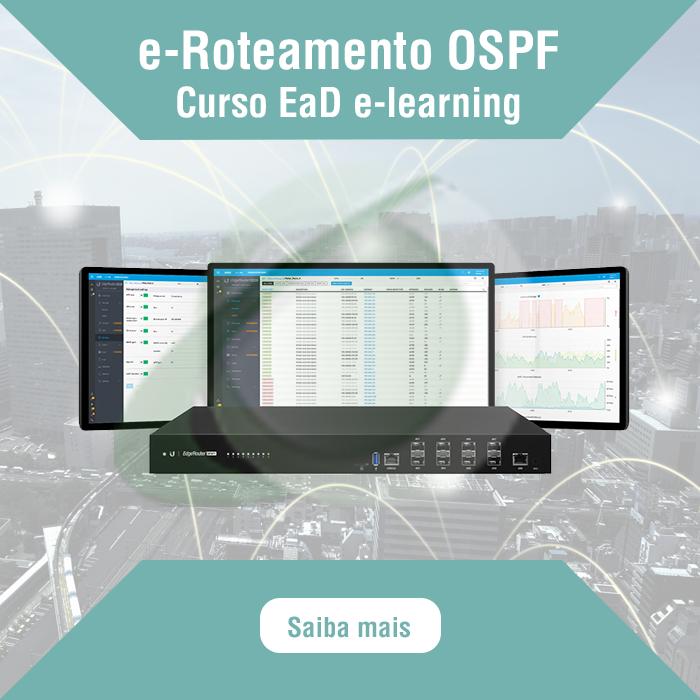 Curso de e-Roteamento Estático e OSPF   Saiba mais: https://www.entelco.com.br/e-roteamento-estatico-ospf… …  Curso de Roteamento da linha EdgeMAX Ubiquiti (EdgeRouter).  #ospf #roteamento #edgerouter #roteador