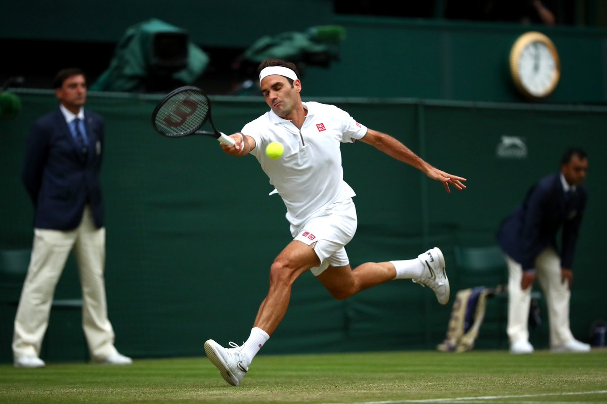 On a roll: @rogerfederer beats Berrettini 6-1, 6-2, 6-2 to reach the last eight at Wimbledon for the 17th time.