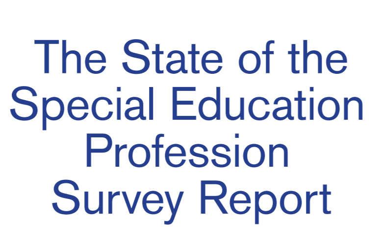 There is a new report out from the Council for Exceptional Children, The State of the Special Education Profession Survey Report.  http://ow.ly/r77S50uVRUP  Follow the link for our perspective and to access the report.