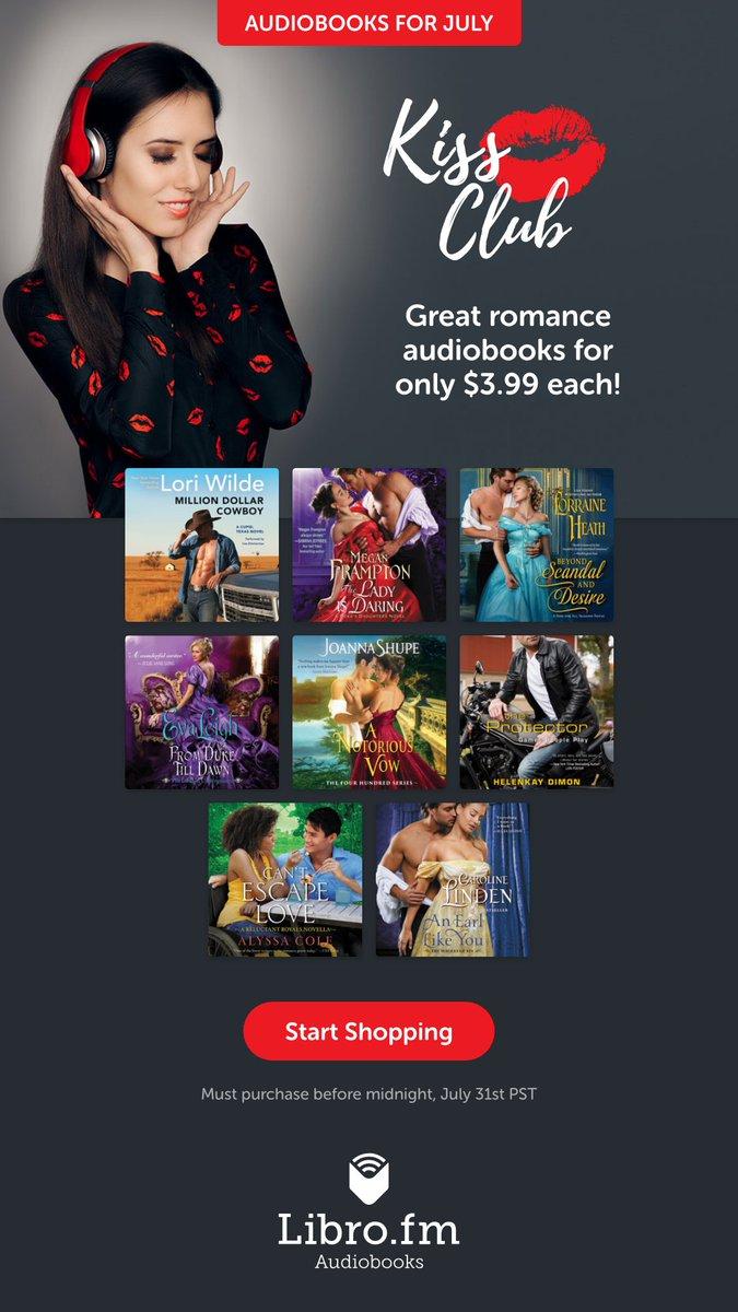 Get July's Kiss Club audiobooks now for just $3.99 each! libro.fm/kissclub #KissClub #romance #audiobooks