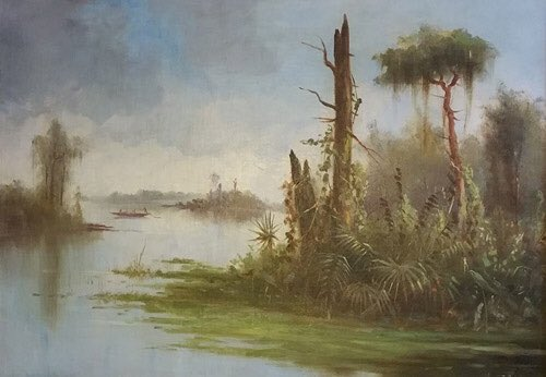 As we roll into the week after the #4thOfJuly, we would like to spotlight some #American landscapes and celebrate the true and vast beauty of The United States. #AmericanSouth 🎨: Louisiana Bayou - Meyer Straus http://bit.ly/MeyerStraus