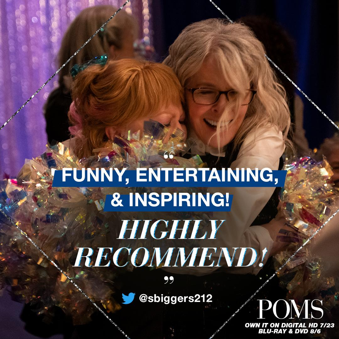 Bring home the movie people are calling funny, entertaining, and inspiring! Own #POMSMovie on Digital HD July 23. https://t.co/b9k2UdaNX1 https://t.co/o0RePrpMNp