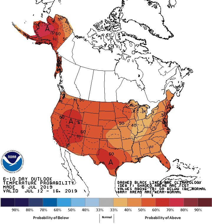 NWSCPC 6-10 & 8-14 day forecasts made on Jul 06. #Natgas cpc.ncep.noaa.gov/index.php