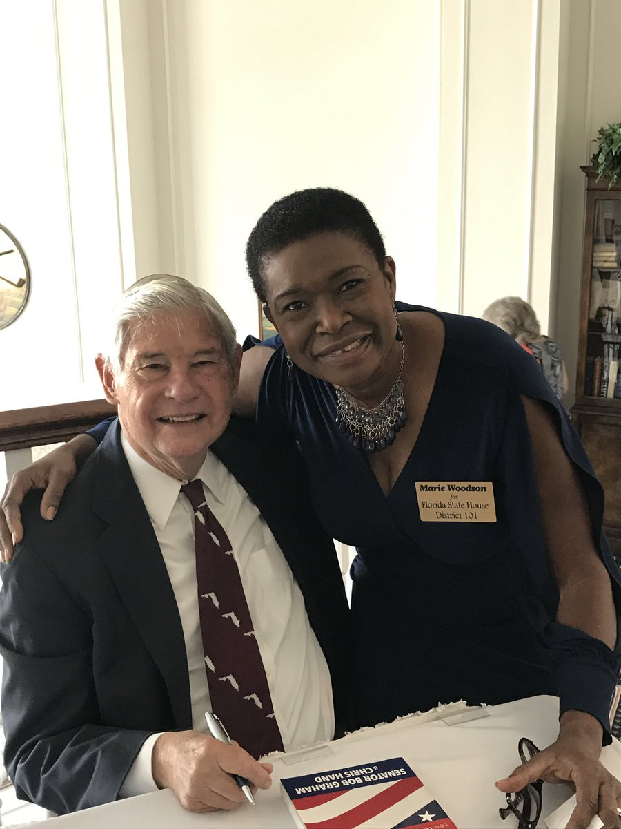 Two great leaders from South Florida, former U.S. Senator Bob Graham and Congresswoman Debbie Mucarsel-Powell.  #TeamWoodson #FLHD101