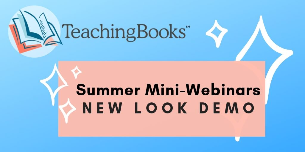test Twitter Media - Introducing the NEW LOOK of TeachingBooks!  Join us on Tuesday, July 9th for a 15 minute mini-webinar to experience the brand new TeachingBooks website and see our newly added features in action. We are so excited to share this with you!   Register here:  https://t.co/LhuCO8lwsB https://t.co/tGJ8g3pa98