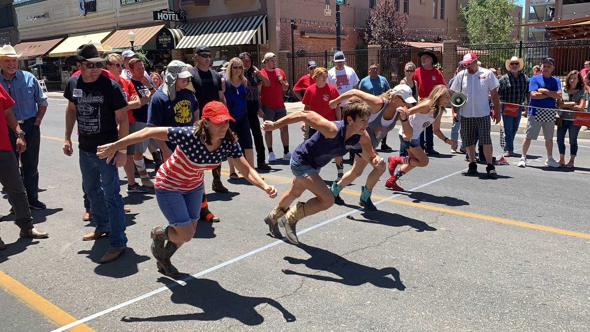 Had a blast in #Prescott today! Got to walk in the parade and run in the iconic boot race!
