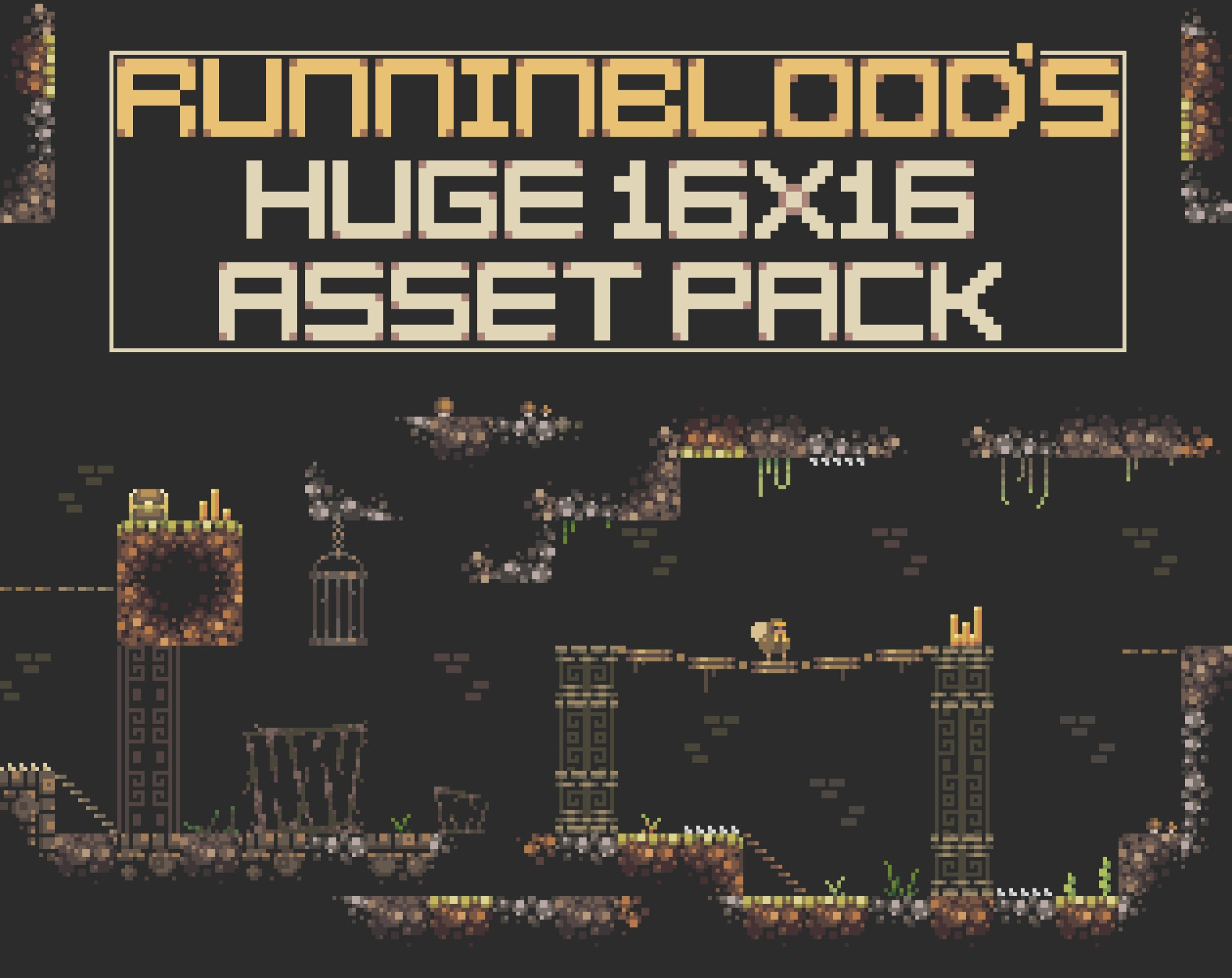 "16X16 Tileset runninblood on twitter: ""very proud to say that my 'huge"