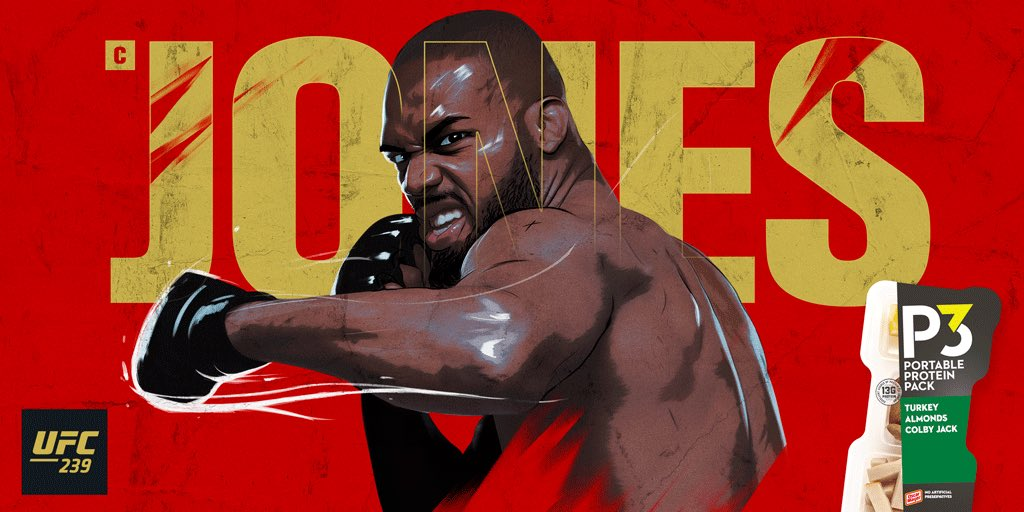 We're getting hungry for #UFC239 and we know you are too. So, here are 3 facts about @JonnyBones to hold you over and get you pumped. 👊 He is the 3x Light Heavyweight Champion 👊 The youngest UFC champion @ age 23 👊 He has the longest reach in the UFC—84.5 inches to be exact