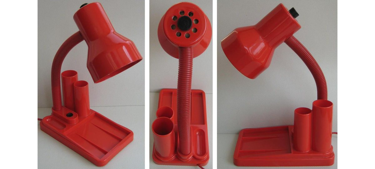 Ever Rotating On Twitter A Vintage Red Desk Lamp