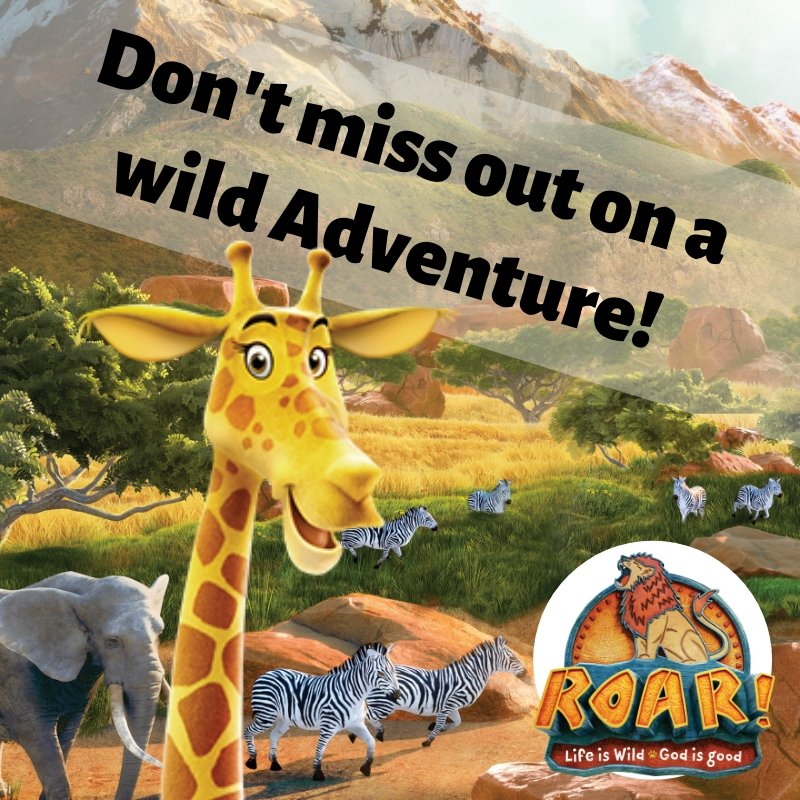 Share this post with your friends! Kids: Don't miss out on a WILD adventure! Register for VBS NOW! Go to http://crossroadassembly.org/vbs & click the link. We hope to see you Monday for a ROARing good time. We can't wait! . #roarvbs #groupvbs #roar #lion #africa #animals #crossroadvbs