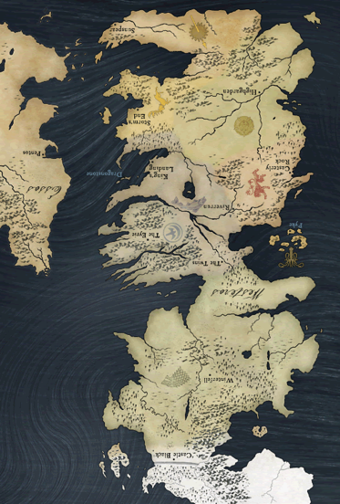 A shout out to @TodayFMNews which recognised that the southern part of Westeros (from Game of Thrones) is in fact an inverted Ireland!