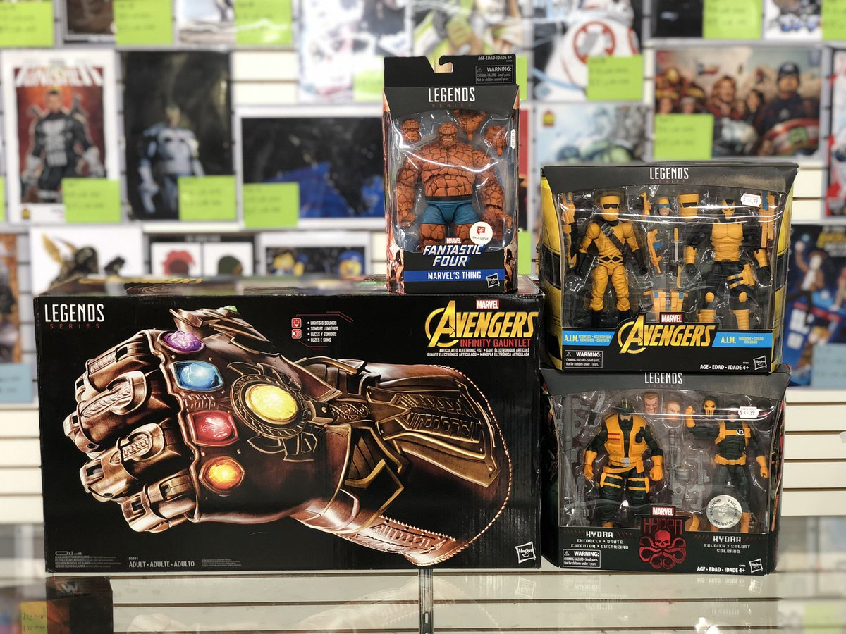AWESOME lot to end the day...  Head over to Heroes & Fantasies for some hard to find #MarvelLegends! Don't sleep on these; they'll be gone in a... snap  #InfinityGauntlet #TheThing #WalgreensExclusive #ActionFigures #Collect #Collectible #Marvel #MarvelComics #Thanos #ToysRUs
