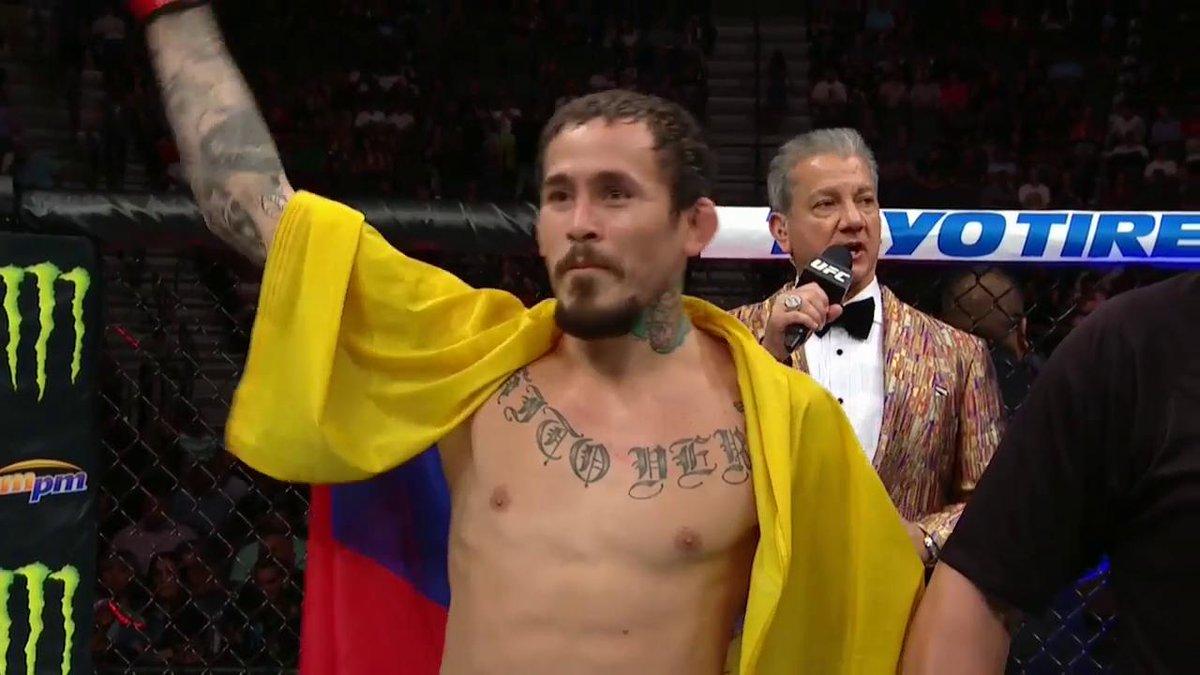 La cuarta victoria seguida para @chitoveraUFC 🇪🇨 #UFC239
