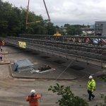 A couple more photos from yesterday's Vicars Bridge lift @EricWrightGroup @LancashireCC @stevefostercranes @ManitowocCo #bridge #grovecrane