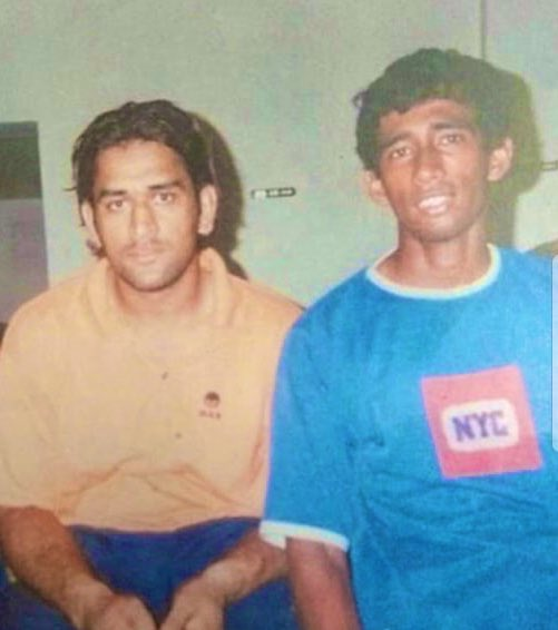 Can you recognise us? Happy Birthday @msdhoni bhai! May you have a wonderful year ahead!