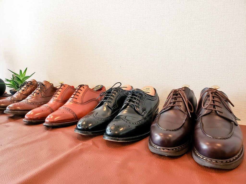 久々にお手入れしました!! ・ #paraboots #chambord #alden9751 #myfirstalden #alden #scotchgrain #スコッチグレイン匠 #nobrand #あしもとくらぶ #あしもと倶楽部 #革靴好きと繋がりたい #足元倶楽部 #靴磨き #革靴 #一生モノ #一生モノコレクター