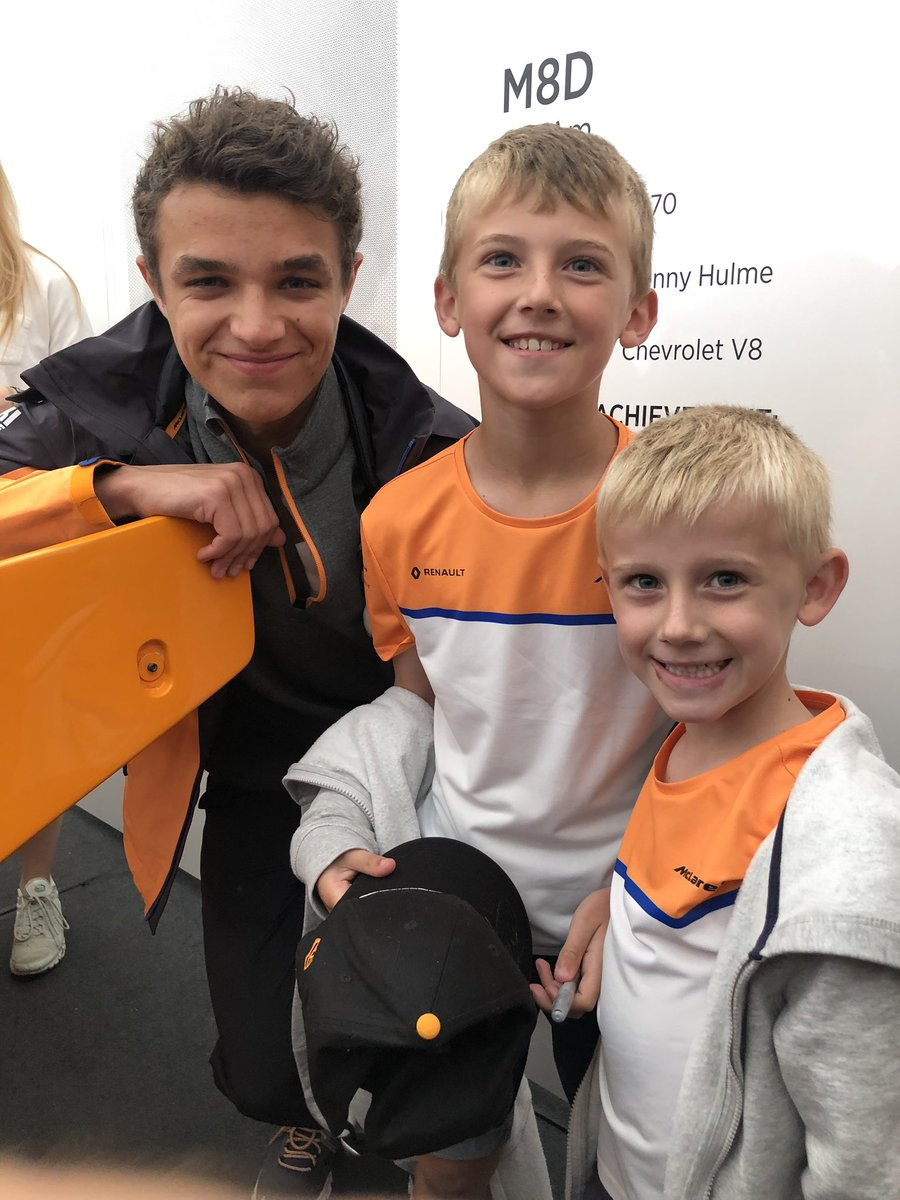 This makes me so happy!! The boys are chuffed too! Thank you @LandoNorris and @McLarenF1  #McLarenFOS #FOS