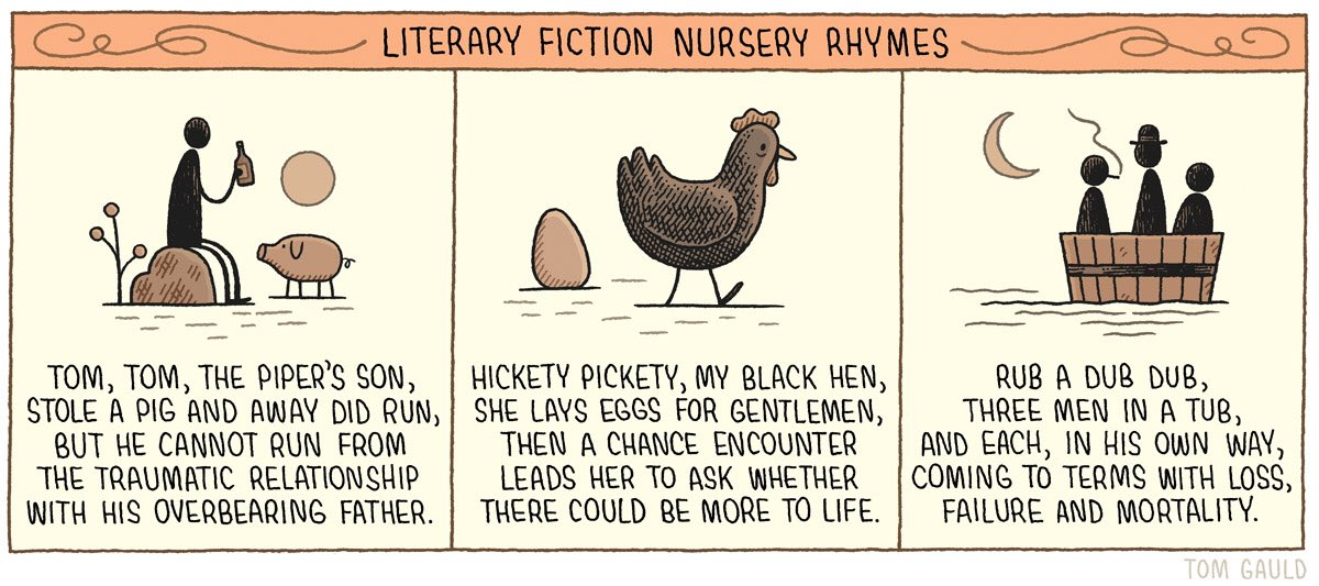 'Literary Fiction Nursery Rhymes' (for the @guardianreview)
