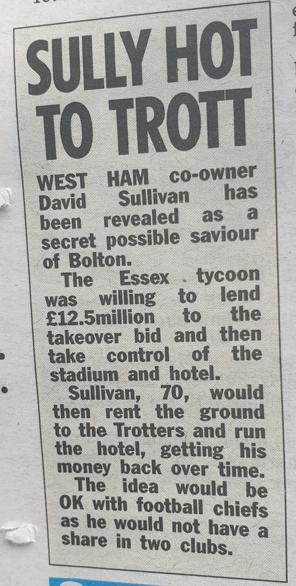 West Ham owner to buy a new ground - ours??? D-3RJwLXkAAFTJi