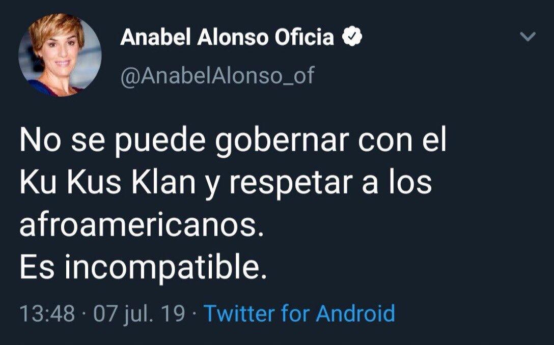 """Gonzalo on Twitter: """"Cuando Anabel Alonso se entere de que el Ku Klux Klan  era una sección de Partido Demócrata (el de Hilary Clinton) y enemigo del  Partido Republicano (el de Trump)"""