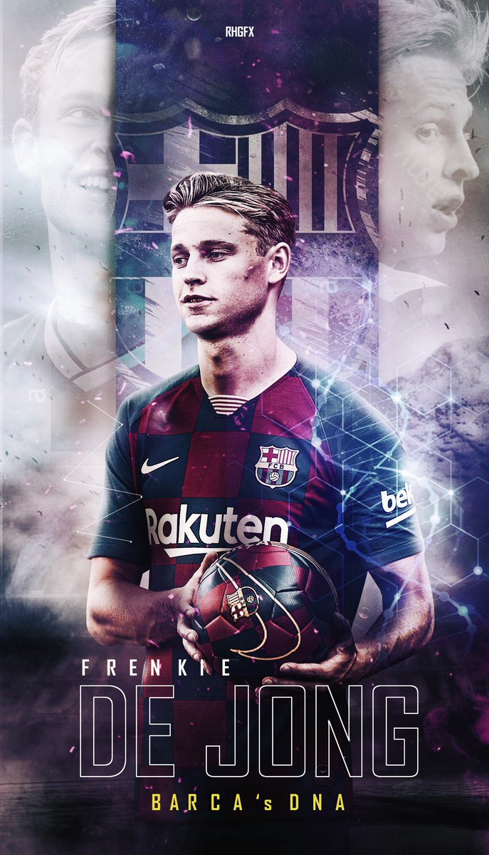 Rhgfx On Twitter Franke De Jong Welcome To Fc Barcelona Barca S Dna Dejong Fcbarca Barcelona Transferwallpaper