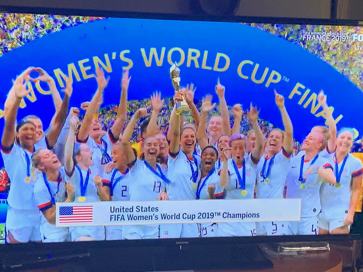 4th Women's World Cup for the U.S. team. Bravo! Congratulations @USWNT! @FIFAWWC #LaGrandeFinale