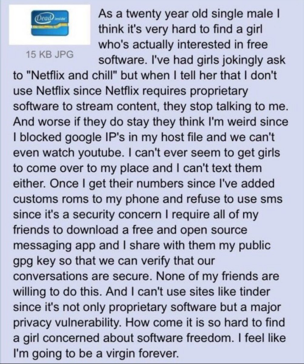 Swiftonsecurity On Twitter Haha I Hadn T Seen This Copypasta In A While Top Tier Parent tags (more general) sans' copypasta by thedaveofguy (airbornbiohazard). swiftonsecurity on twitter haha i