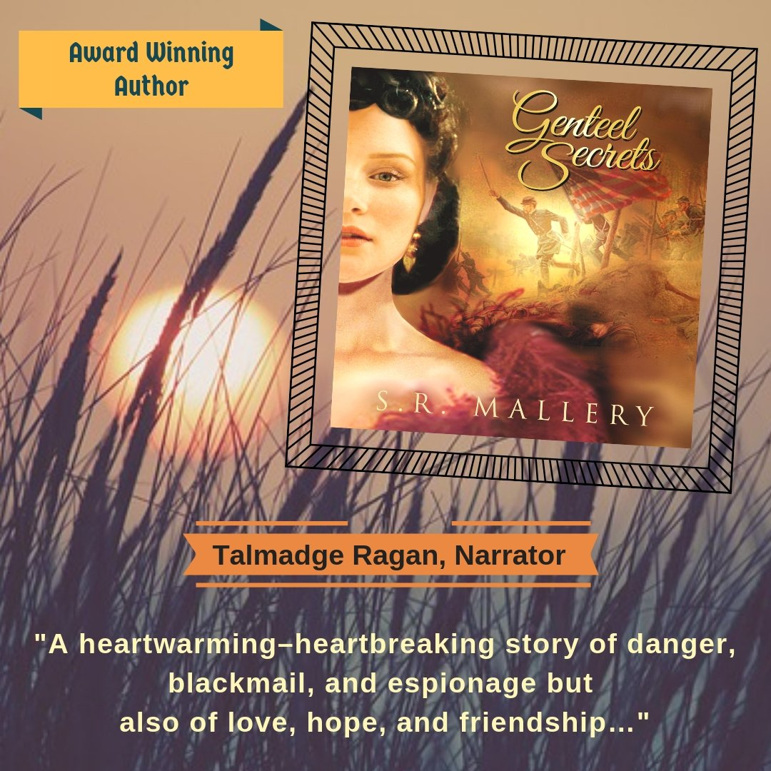 ***GENTEEL SECRETS is LIVE!!!!*** Narrated by the fine Talmadge Ragan! https://adbl.co/2NjsHoo   Drift back to 1861 at the start of the U.S. Civil War… voxchick1 https://www.audible.com/pd/B07HY7XCRT/?source_code=AUDFPWS0223189MWT-BK-ACX0-129318&ref=acx_bty_BK_ACX0_129318_rh_us … #AUDIOBOOK  #BookWorm