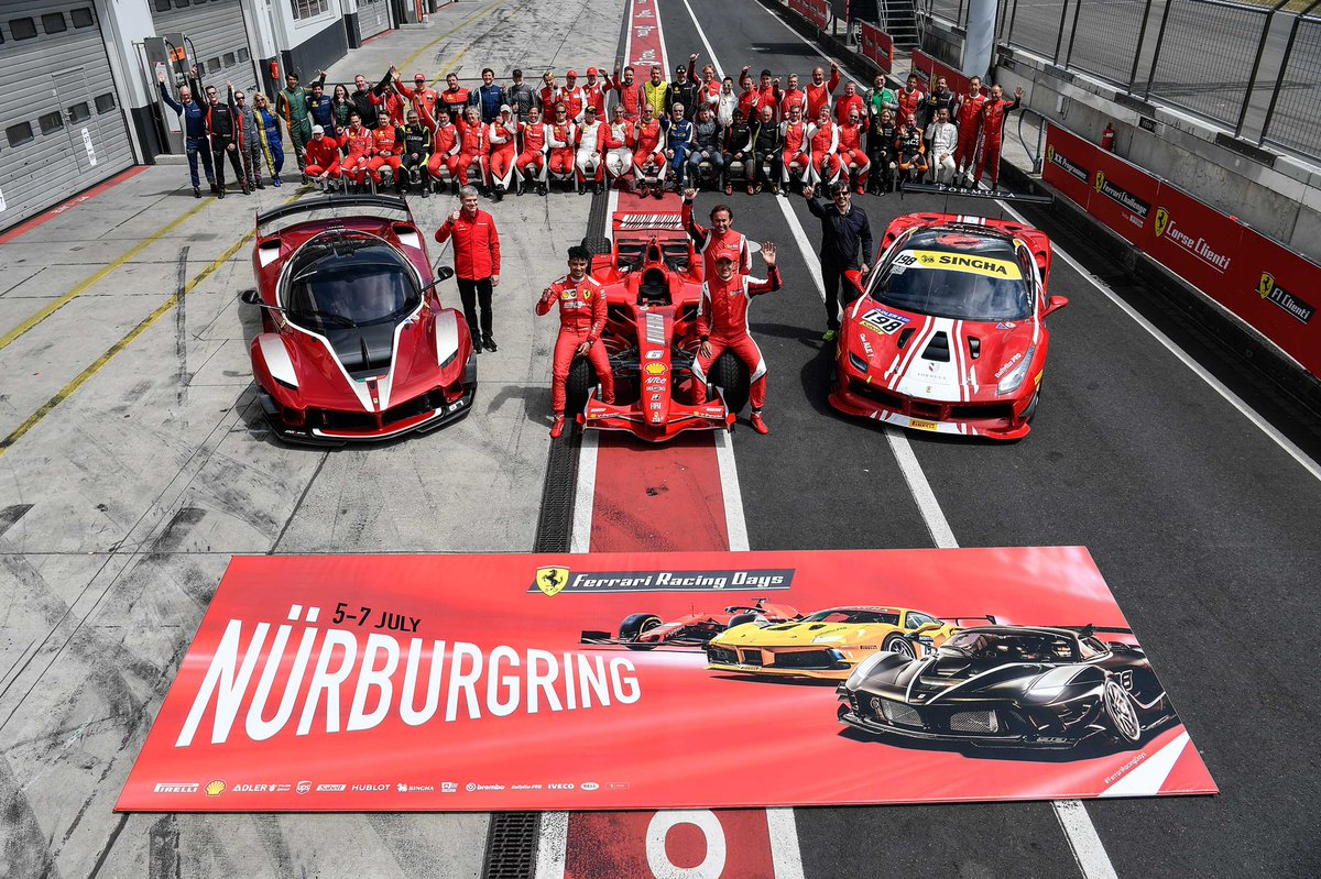 Video Relive The Amazing Ferrari Show At Nurburgring Thrills And Chills At The Ferrari Racing Days