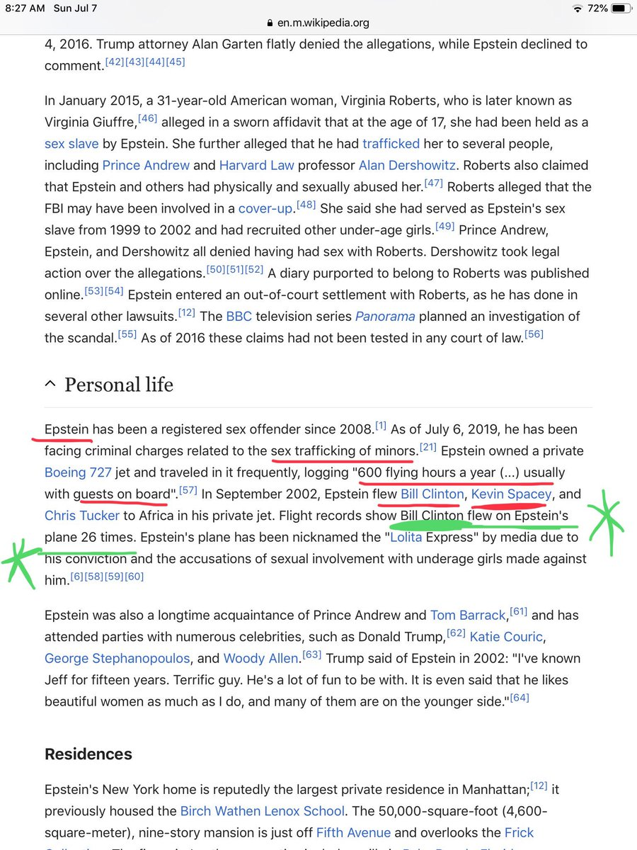 Epstein's Wikipedia Page Edited To Remove Ties To Bill Clinton plus MORE D-4m9njWkAAClPO