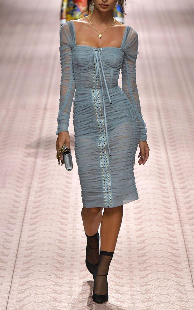 Платье голубого цвета Dolce & Gabbana