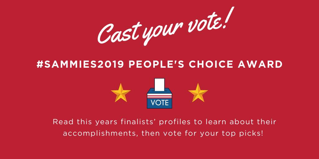 Voting closes TOMORROW❗Do you have a favorite finalist? Help them win big at #Sammies2019 by voting today! bitly.com/votesammies