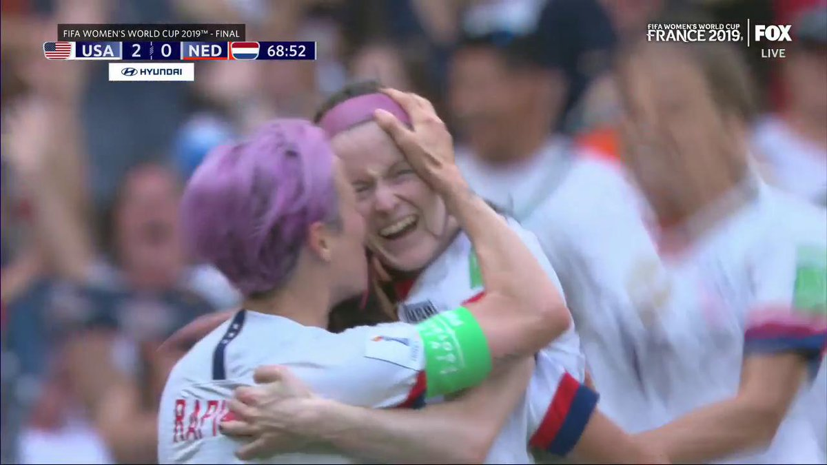 ROSE. LAVELLE. 🌹🇺🇸  A beautiful solo effort doubles the @USWNT's lead in the #FIFAWWC final!